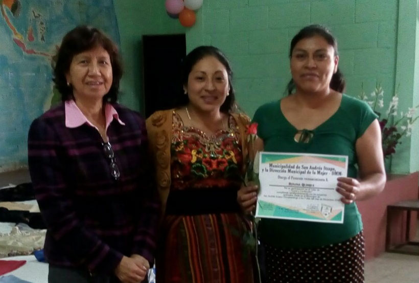 Manos Amigas cutting and sewing
